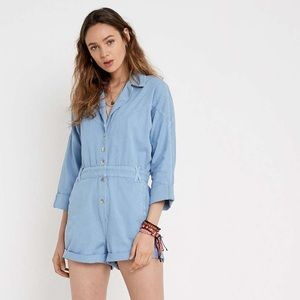 80s Inspired Buttoned Romper